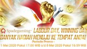 Promo Spade Gaming Labour Day Winning Day IDR 160 Juta