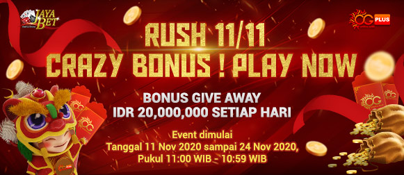Promo Live Casino Rush 11/11 Crazy Bonus Oriental Game Plus