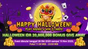 Promosi Happy Halloween Permainan Niu Niu Dan Win 3 Cards